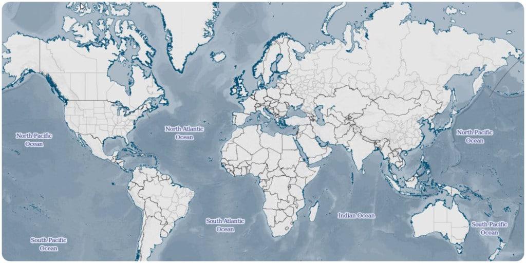 Weltkarte MBI